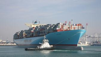 Containers maersk line container ships eugen sea wallpaper