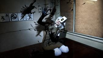 Cosplay glados portal 2 wallpaper