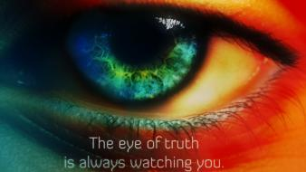 Eye truth watching wallpaper