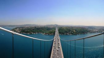 Fatih sultan mehmet bridge istanbul turkey bosphorus bridges wallpaper
