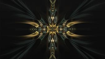 Fractals darkness digital art wallpaper