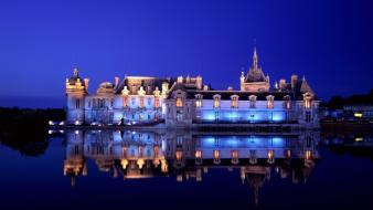 France buildings chantilly cities chateau wallpaper