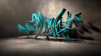 Graffiti 3d background wallpaper