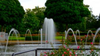 Green water nature germany fountain Wallpaper