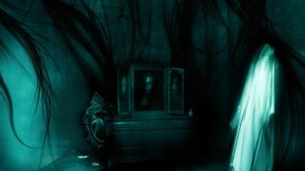 Horror mirrors gothic macabre ghost Wallpaper