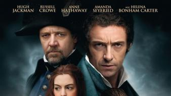 Hugh jackman posters les miserables russell crowe Wallpaper