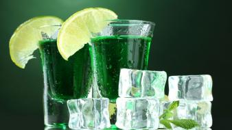 Ice alcohol mojito lemons shot wallpaper