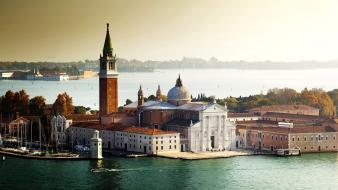 Italy rivers church of san giorgio maggiore Wallpaper
