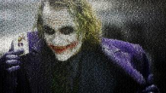 Joker mosaic screenshots artwork photomosaic dark knight wallpaper