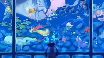 Lanturn lumineon manaphy mantine phione swampert wailord Wallpaper