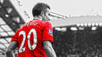 Manchester united fc robin van persie football player Wallpaper