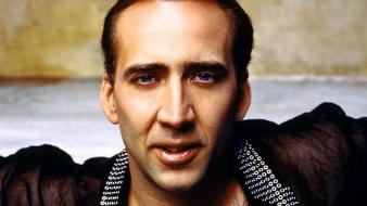 Men smiling actors nicolas cage faces portraits wallpaper