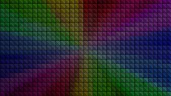 Minimalistic multicolor rainbows pixels squares pixel wallpaper