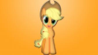 My little pony applejack pixelated wallpaper