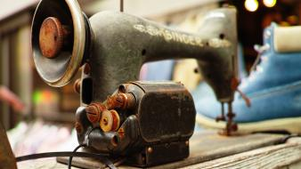Old machines objects sewing machine wallpaper
