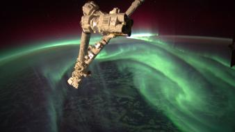 Outer space earth nasa satellite aurora australis wallpaper