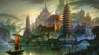 Paintings japanese fantasy art wallpaper