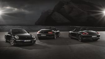 Porsche black edition boxster s widescreen wallpaper
