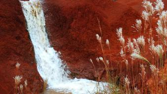 Red hawaii falls dirt kauai wallpaper