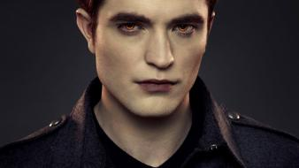Twilight robert pattinson orange eyes edward cullen wallpaper