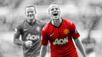 United fc premier league cutout tom cleverley wallpaper