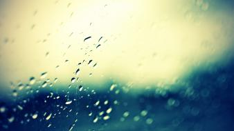Water nature rain window panes wallpaper