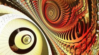 Abstract orange fractals geometry Wallpaper