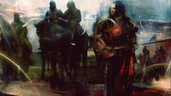 Art horses digital artwork kaamelott alexandre astier Wallpaper