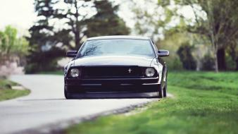 Black cars ford roads lowriders mustang shelby gt500 wallpaper