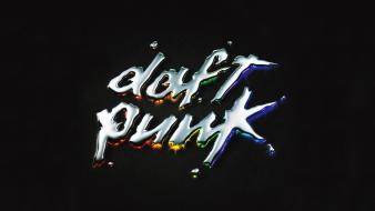 Black daft punk metal rainbows discovery electronic music Wallpaper