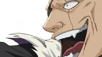 Bleach zaraki kenpachi captains open mouth faces wallpaper
