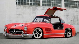 Cars coupe stance widescreen mercedes benz 300 sl wallpaper