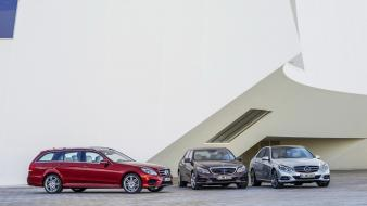 Cars mercedes-benz e-class class mercedes benz trio 2013 Wallpaper