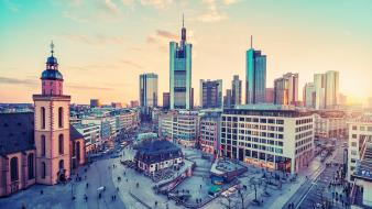 Cityscapes germany frankfurt cities Wallpaper