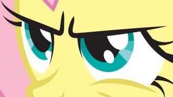 Close-up fluttershy my little pony: friendship is magic wallpaper
