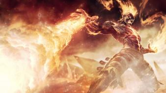 Flames fire league of legends brand wallpaper
