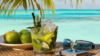 Food alcohol limes cocktail liquor mojito rum wallpaper
