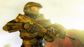 Halo master chief 4 campaign battle rifle wallpaper