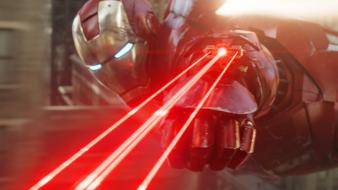 Iron man marvel the avengers (movie) lasers wallpaper