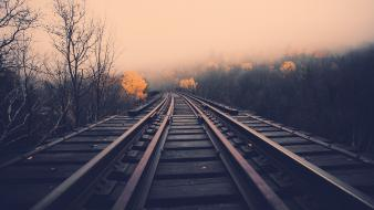 Landscapes railroad tracks railroads wallpaper