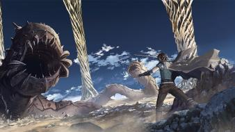 Monsters boys capes fighters sandworm wallpaper