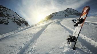Mountains snow snowboard wallpaper