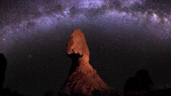 National geographic utah night sky rock formations wallpaper