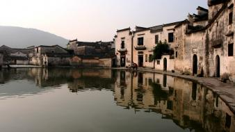Nature china national geographic villages lakes reflections wallpaper