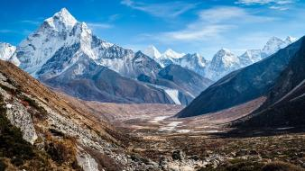 Nature nepal camp mount everest plain tundra wallpaper