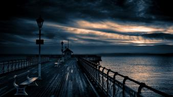 Nature pier sea wallpaper
