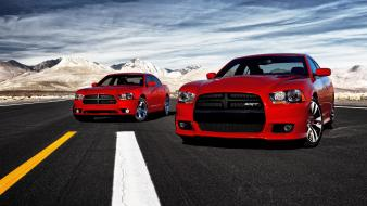 Red roads dodge charger Wallpaper