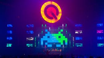 Space invaders hardstyle q-dance wallpaper