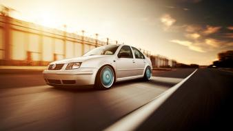 Sun cars roads volkswagen jetta wallpaper