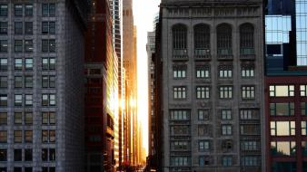 Sunset chicago architecture buildings downtown national geographic Wallpaper